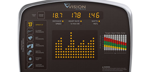 Vision Fitness S60 Elliptical Console