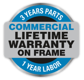 Bodyguard Commercial Warranty: Lifetime Frame, 3 Years Parts, 1 Year Labor